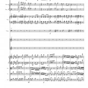"""Joy to the World! (ANTIOCH)"" score, page six"