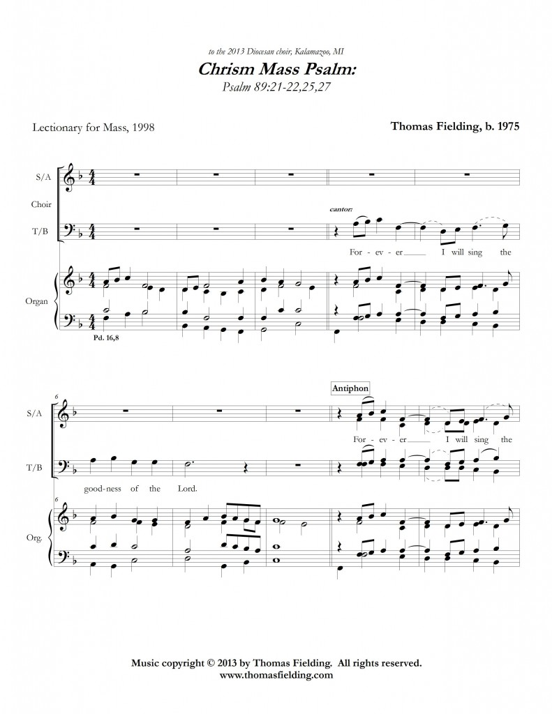 Chrism Mass Psalm page one