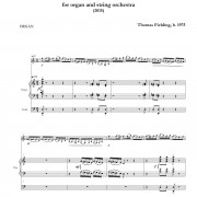 Sinfonia Concertante ORGAN page one