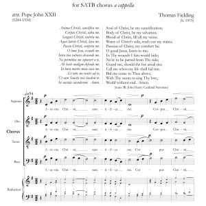 Anima Christi page one