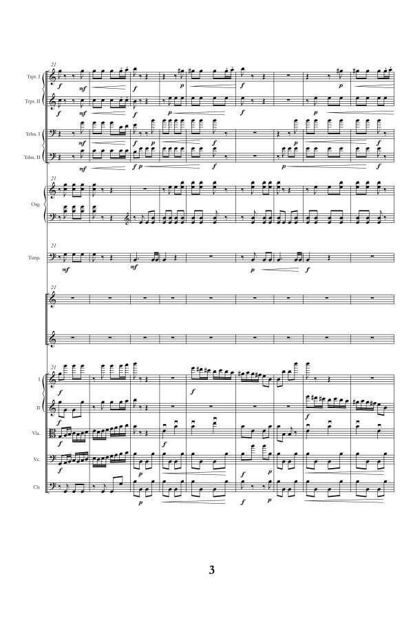 """Joy to the World! (ANTIOCH)"" score, page 3"