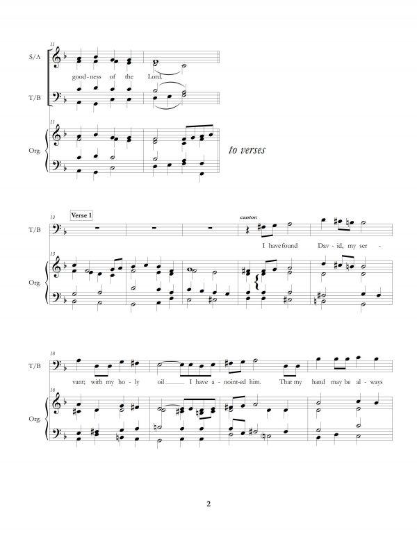 """Chrism Mass Psalm: Psalm 89"" page two"