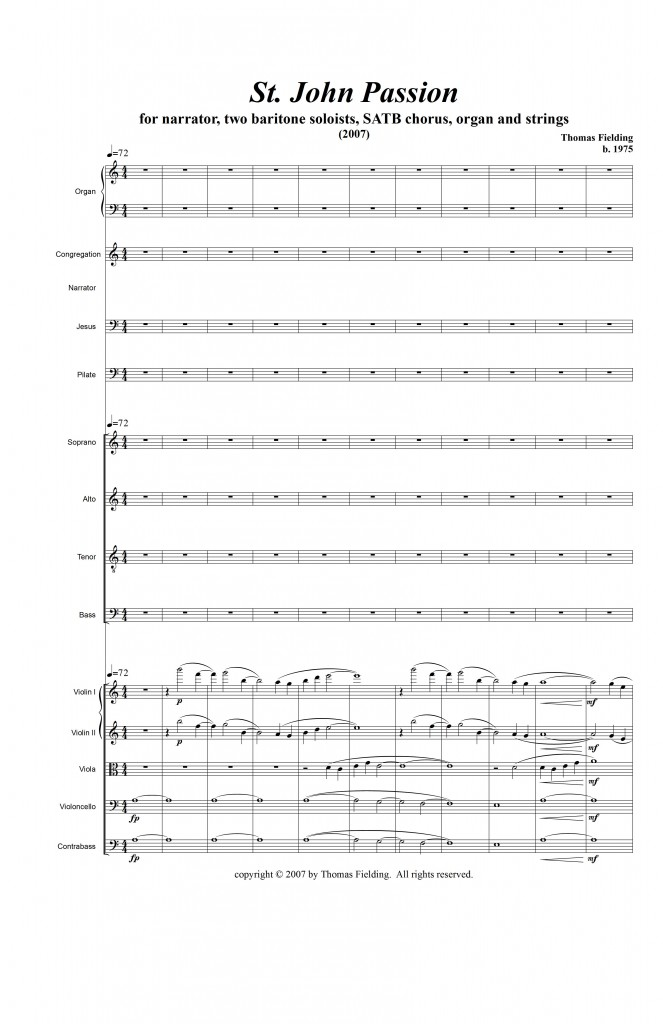 JohnPassion page one