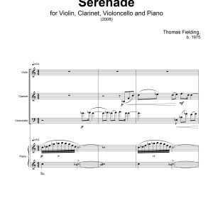 """Serenade"", page one"