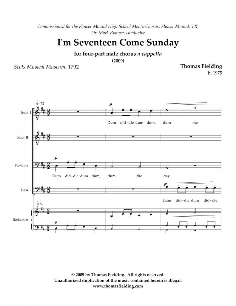 SeventeenSunday page one