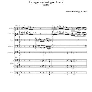 Sinfonia Concertante page one