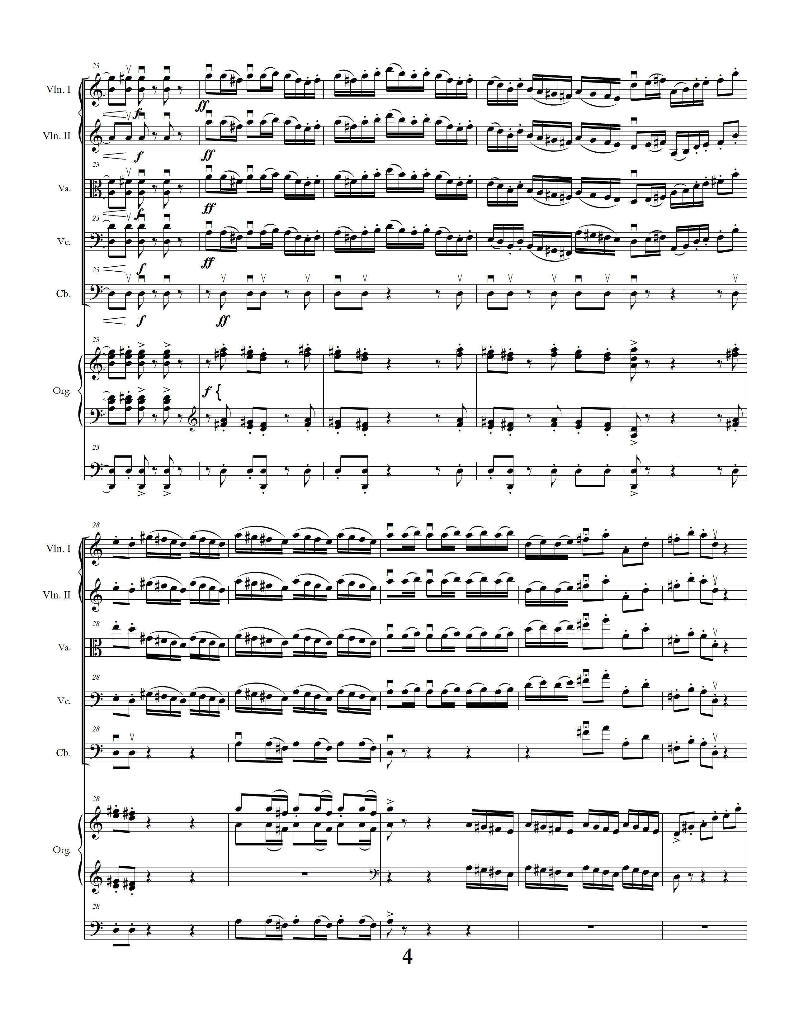 Sinfonia Concertante page four