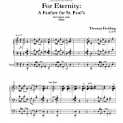 For Eternity: Fanfare for Organ page one